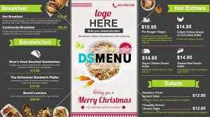 restaurant menu templates digital menu board for restaurant