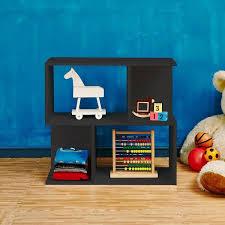 Modern Kids Bookshelf Black Modern 2 Shelf Bookcase Formaldehyde Free Way Basics