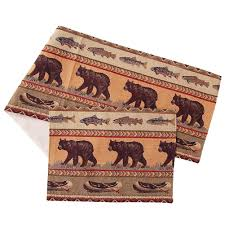 rustic table runners placemats cabin place jackson hole placemats table runners