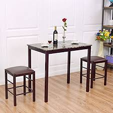 home kitchen furniture giantex 3 pcs table set faux marble counter home