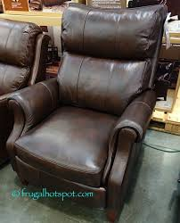 costco deal synergy home furnishings monica recliner synergy home leather pushback recliner costco frugalhotspot
