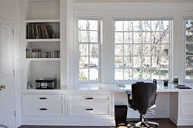 bay window desk long built in desk nook wet bars libraries and more