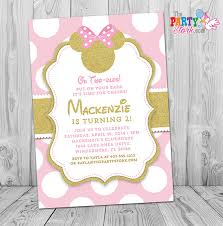 minnie mouse invitation pink and gold minnie mouse invites pink