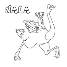 nala coloring pages 10 funny ostrich coloring pages your toddler will love to color