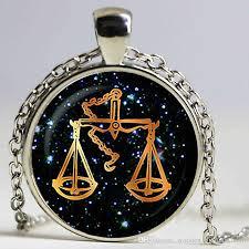 black glass necklace images Wholesale libra black glass zodiac pendant libra necklace charm jpg