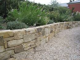 dry stacked with gravel in front landscaping pinterest