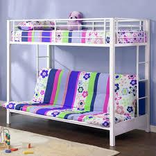 walker edison twin over futon metal bunk bed white box 1