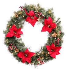 48 in battery operated accented artificial wreath with 60