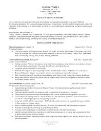 Entry Level Chemist Resume James Conkell Chemistry Resume