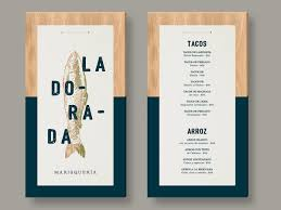 la dorada on behance menu design mounted on wood identity
