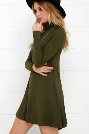 lulus sway sway olive green swing dress bodice is lined