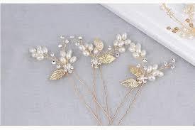 gold leaf headband gold leaf pearls hair vine bridal headband wedding hair jewelry