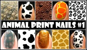 animal print nail art 1 no tools required easy nails design