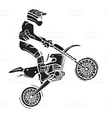cros tatto moto cross tattoo stock vector art 535021497 istock