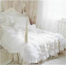 Princess Duvet Cover Wholesale Romantic White Lace Rose Bedding Set Princess Duvet