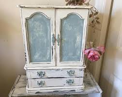 Large White Jewelry Armoire Jewelry Armoire Etsy