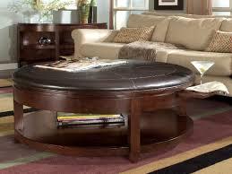 beautiful round leather storage ottoman wonderful round ottoman