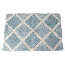 Cotton Bathroom Rugs Saturday Modena 31 In X 21 In Cotton Bath Rug In Light