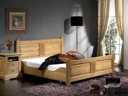 chambre chene massif lit rustique honorine en chêne massif avec tête de lit sculptée