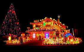 excessively bright christmas decoration lights hoarder home