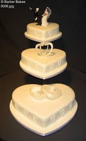 heart wedding cakes u2013 barker bakes ltd
