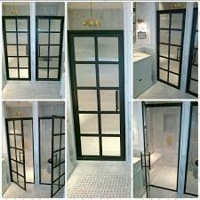 Black Shower Door Window Pane Shower Door Shower Ideas
