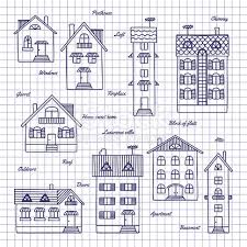 sketch of houses of different heights stock vector art 509364944