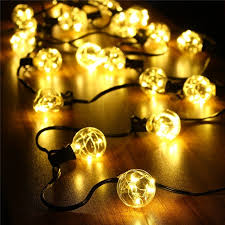 dimmable outdoor led string light waterproof 18ft g40 globe led string lights indoor outdoor led fairy