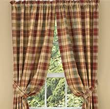 Country Plaid Valances Country Drapes And Panel Curtains Saffron Drapery Panels 84