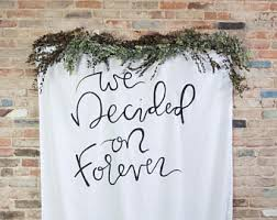 wedding backdrop quotes backdrop lettering etsy