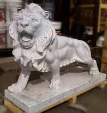marble lions classical marble lions