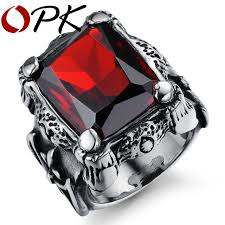 aliexpress buy real brand italina rings for men hot aliexpress buy opk brand design royal square blood rings