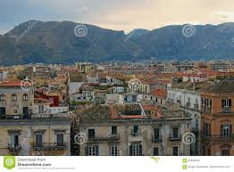 beautiful tiled roofs of old houses nice mountain in the