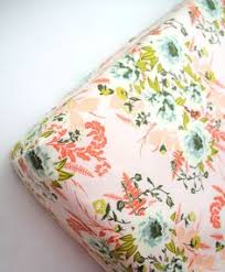 Sheets For Mini Crib Fitted Crib Sheet Coral Gold And Mint Roses Crib Sheets
