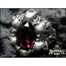 Swarovski Crystal Home Decor Shadow Of Death Pewter Ring