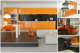 couleur cuisine moderne cuisine couleur orange pour un décor moderne et énergisant