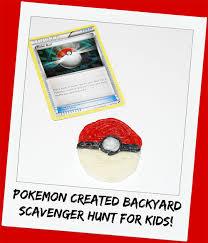 backyard treasure hunt how to create your own pokémon backyard scavenger hunt for kids