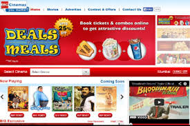 top 5 websites to book movie tickets online in india