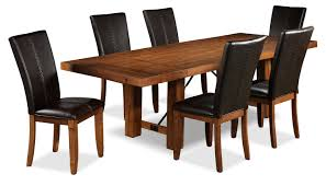 7 Piece Dining Room Sets Helix 7 Piece Dining Room Set Oak Leon U0027s