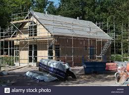 swedish house under construction insulation insulation stock