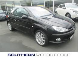 black peugeot peugeot 206 cc 1 6 cabriolet 2003 used peugeot new zealand