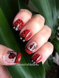ladybug collage nails nailart nail art pinterest so cute