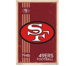 christmas gifts for 49ers fans san francisco 49ers retro logo 1946 poster products for dorms
