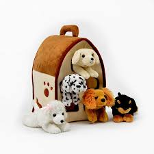 House Dogs by Amazon Com Plush Dog House Five 5 Stuffed Animal Dogs
