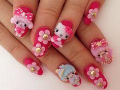 amazing 3d nail art designs 3d nail art hello kitty nails and
