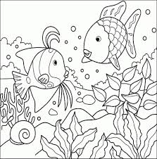 coloring pages kids fish coloring