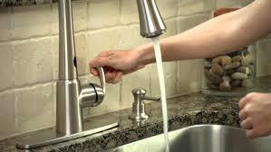 satin moen motionsense kitchen faucet centerset single handle pull