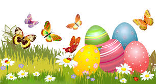 wallpapers easter humor butterflies eggs camomiles grass 5000x2700
