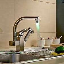 Brushed Brass Kitchen Faucet by Kitchen Faucet Pull Out Ebay