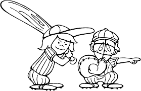 playing baseball coloring pages wecoloringpage